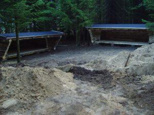 De første shelters er bygget december 2004.