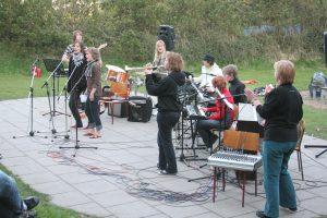 Et musikhold fra Vesthimmerlands Gymnasium gav også en koncert.